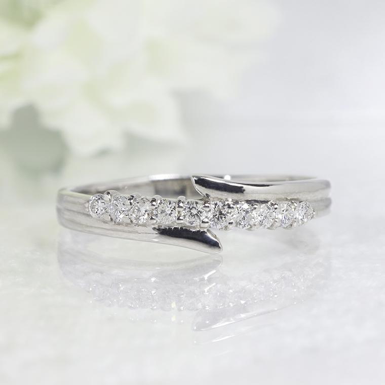 ファッション・ジュエリー・アクセサリー・レディース・指輪・リング・プラチナ・Pt900・ダイヤ リング・ダイヤモンド リング・テン ダイヤ・10個・10粒・10年・10周年・重ねづけ・プレゼント・ピンキー・送料無料・品質保証書・4月・誕生石 *