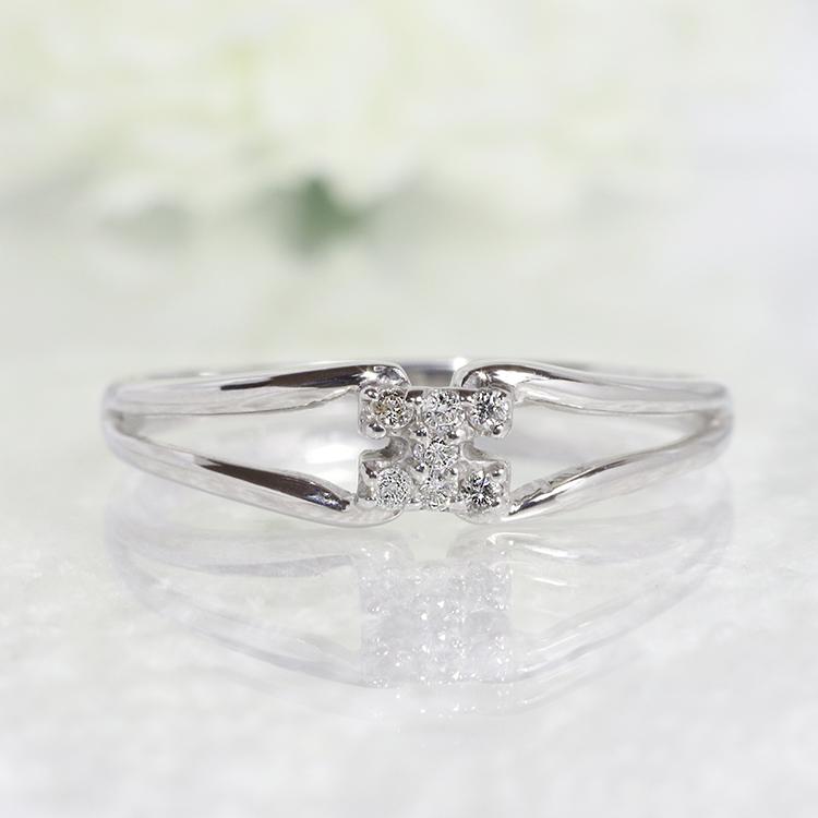ダイヤモンド リング ジュエリー アクセサリー ファッション【送料無料】ダイヤモンドリング指輪18金ホワイトゴールド「4R0248W」 *