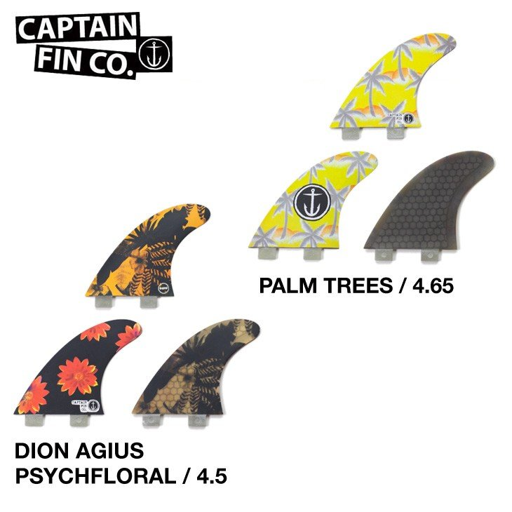 CAPTAIN FIN FCS DION AGIUS TEAM PALM TREES FCS 【正規品】【送料無料】