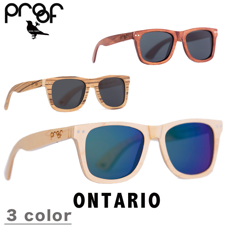 f0eab132f1 PROOF EYEWEAR proof eyewear ONTARIO sunglasses THE WOOD COLLECTION Wood  collection