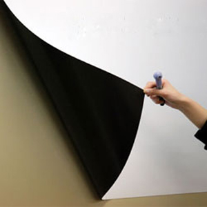 貼ってはがせる ホワイトボードマグネットシート900×1200×1mm(映写用、プロジェクタスクリーン 会議 プレゼン テレワーク 壁掛け)