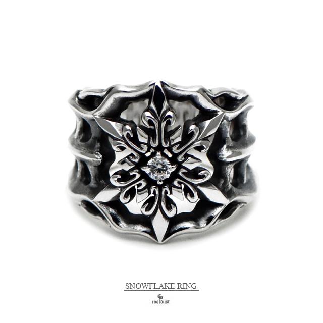 スノーフレーク 指輪 [ リング 雪の結晶 メンズ / クールダスト] 天然石 cooldust