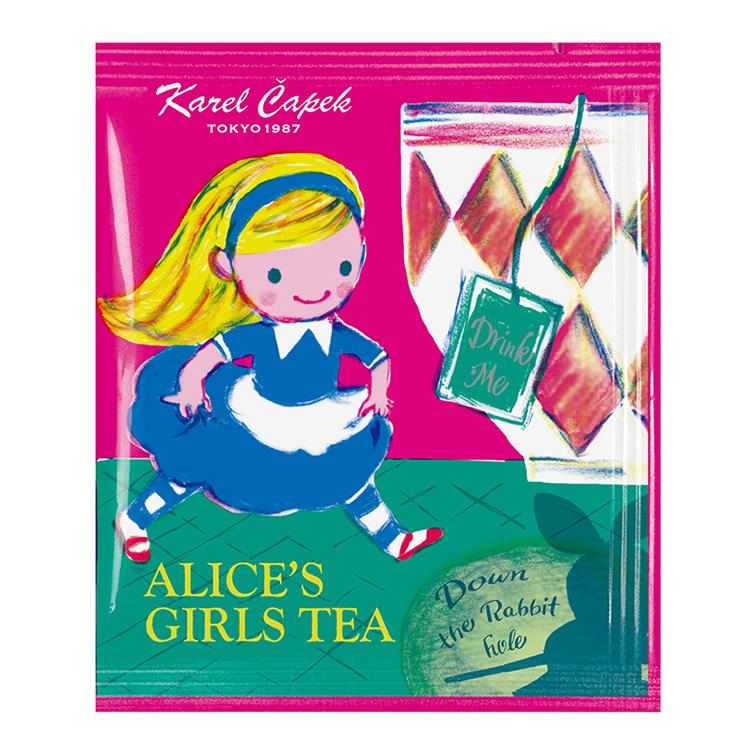 供卡雷尔恰彼克爱丽丝的女孩子球座ALICE'S GIRLS TEA/个包装茶杯使用的茶袋10P(*2套5P)