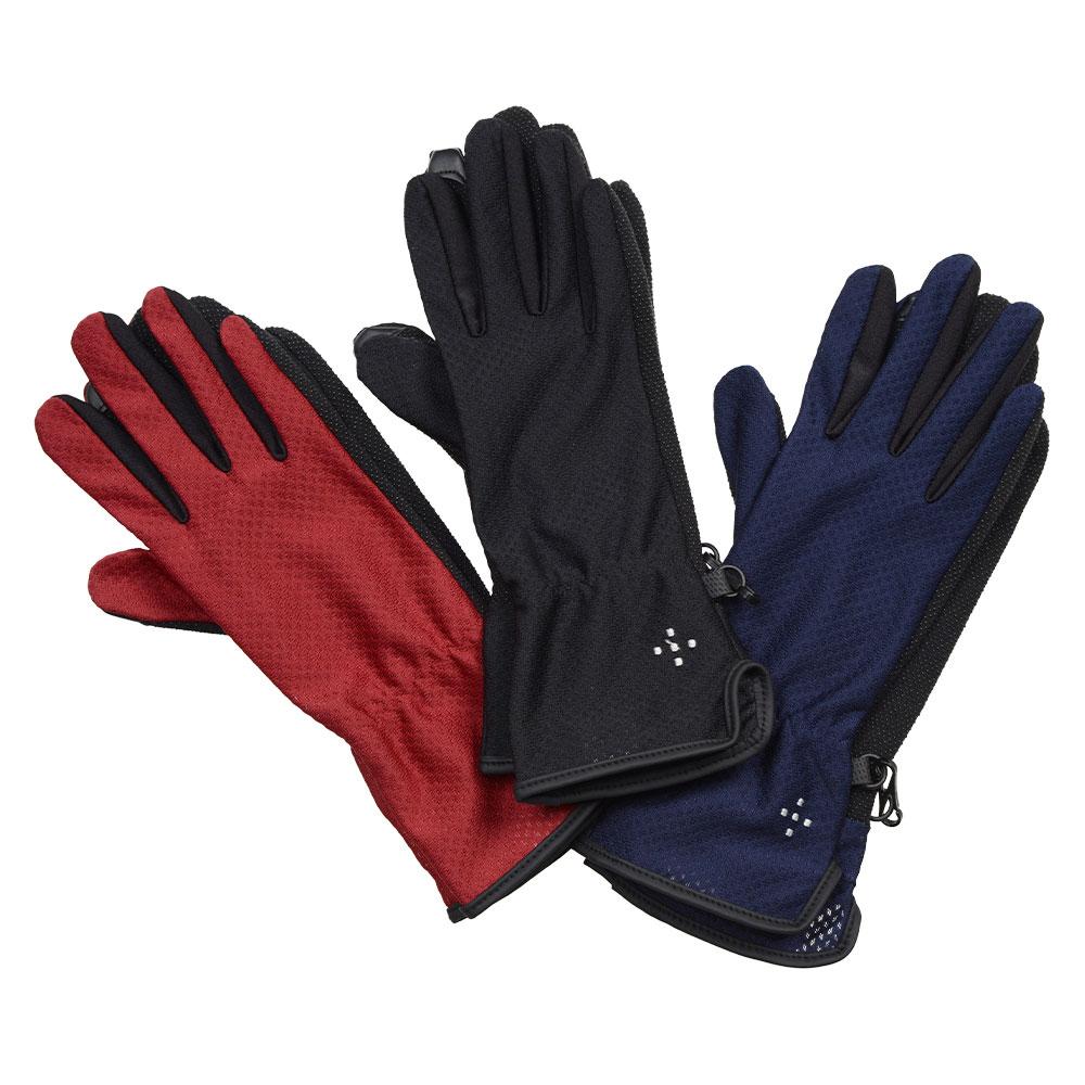 【メール便発送】 AXESQUIN - ウィメンズ・UVメッシュグローブ ロング [ アクシーズクイン AG6715 W's UV Mesh Glove Long レディース 登山・ハイキング UVカット タッチパネル対応 手袋 ]
