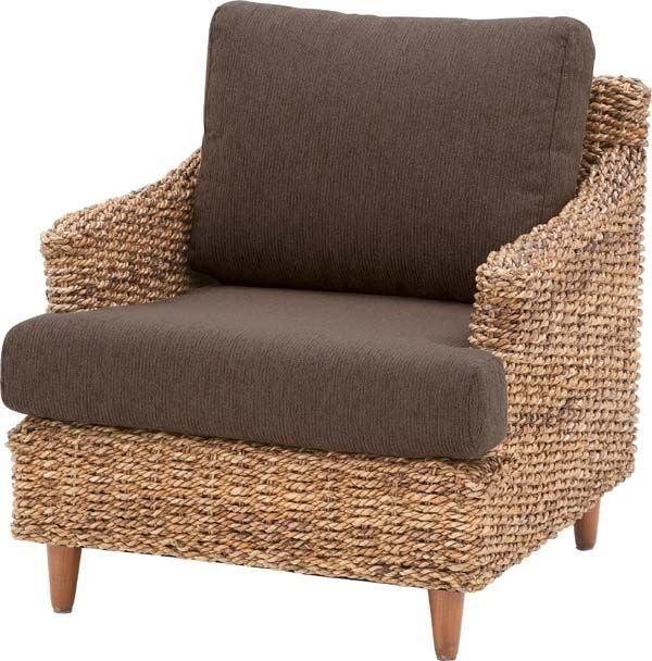 送料無料 ソファ クラール 1人掛 NRS-411/145522  ソファ ソファー 1人掛け 椅子 イス いす ラタン アバカ アジアン