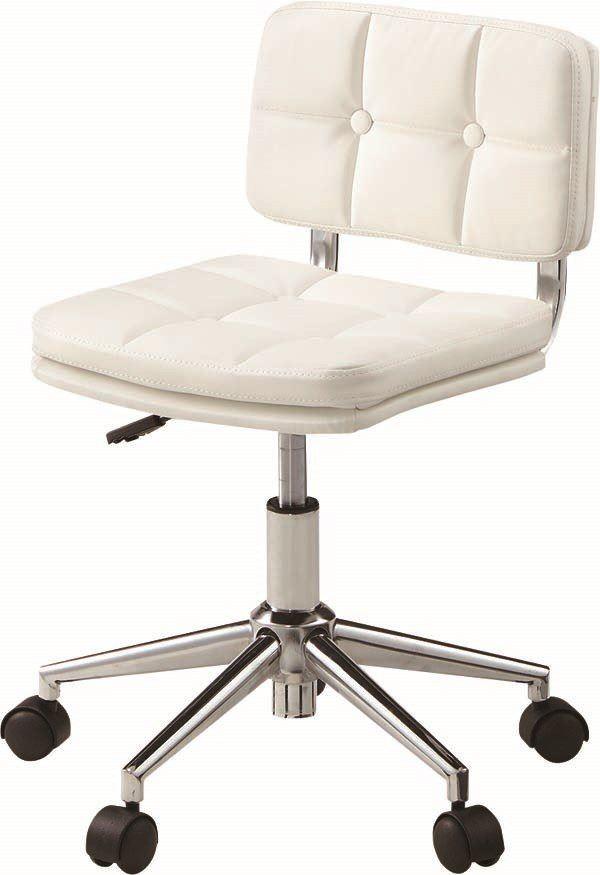 送料無料 デスクチェアRKC-301WH/169955 オフィスチェア 事務用チェア 昇降 合皮 肘無し デスクチェア いす イス 椅子 チェア チェアー キャスター
