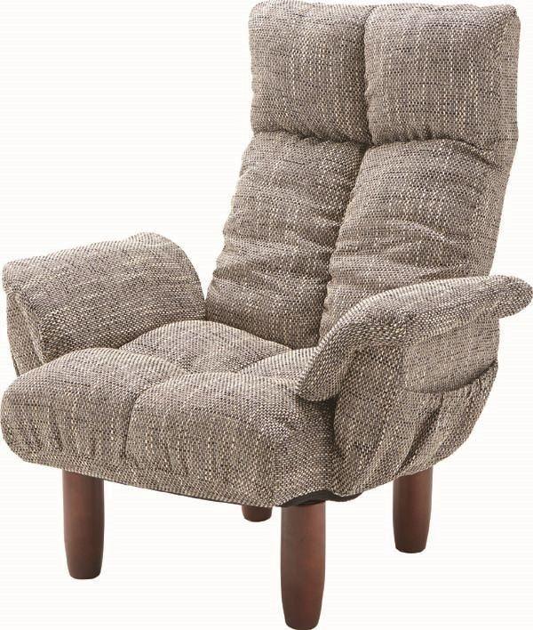 送料無料 脚付パーソナルチェア RKC-39GY/169979 パーソナルチェア 座椅子 いす イス チェア チェアー 北欧テイスト モダン ナチュラル シンプル アンティーク
