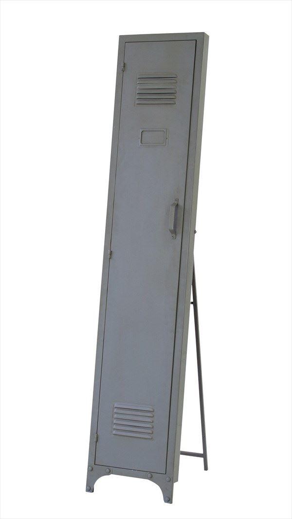送料無料 ロッカーミラー TSM-16GY