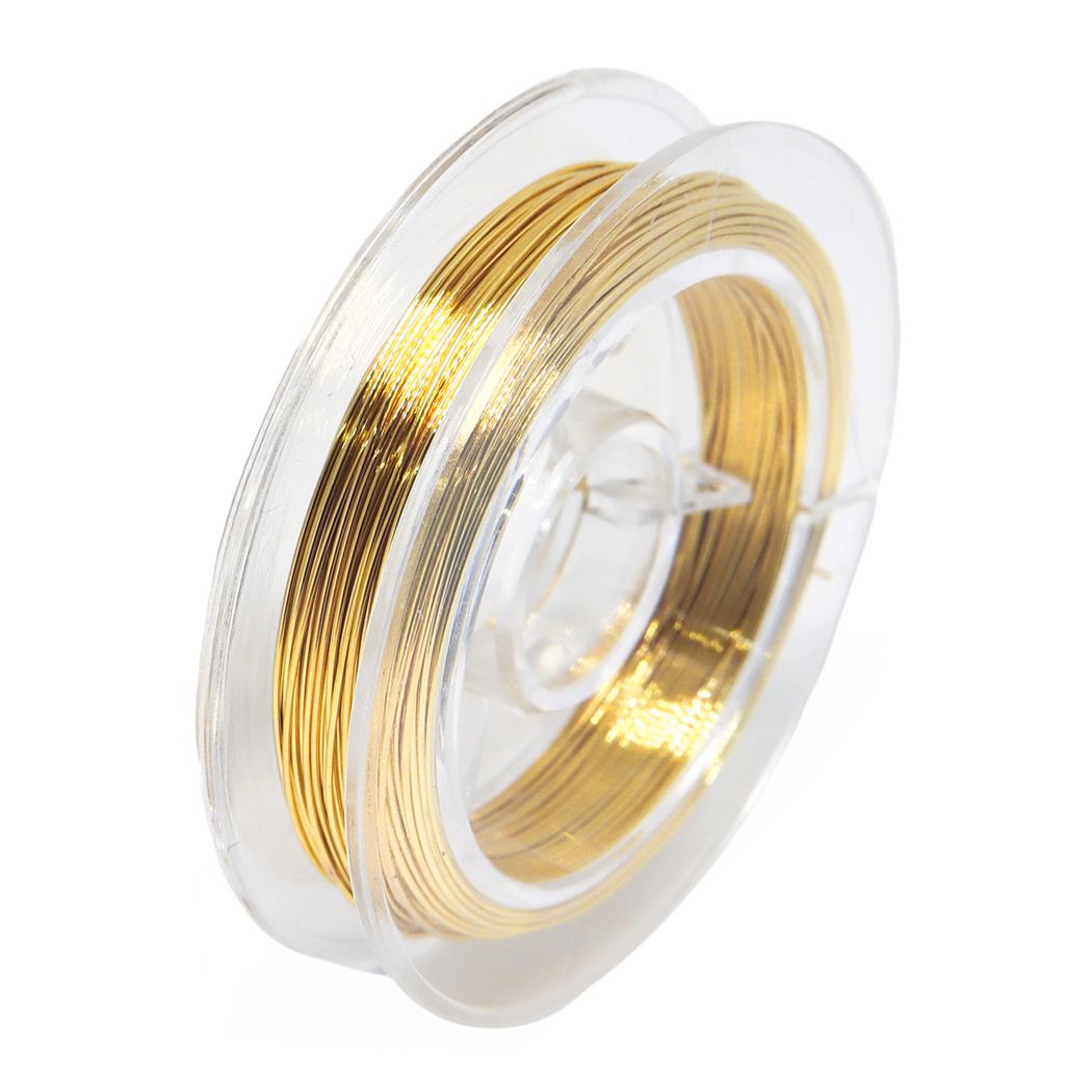 高品質のハンドメイド用ワイヤーです。 316Lサージカルステンレス 18KGP ワイヤー アクセサリー用 アクセサリーパーツ ハンドメイド クラフト DIY 手芸 素材 材料 10m 0.3mm 0.4mm 0.5mm ゴールド 金属アレルギー対応 1200