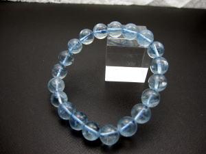 10Aグレード アクアマリンブレスレット珠のサイズ:10mmサイズ:17cm