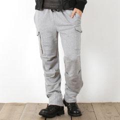 【パンツ メンズ】日本製 コーマ 裏毛 イージー カーゴ パンツ 男性 メンズ Upscape Audience アップスケープ オーディエンス