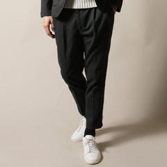 Upscape Audience アップスケープオーディエンス アンクルパンツ イージーパンツ メンズ 秋 冬 パンツ ウールライク ツイル ストレッチ ファッション