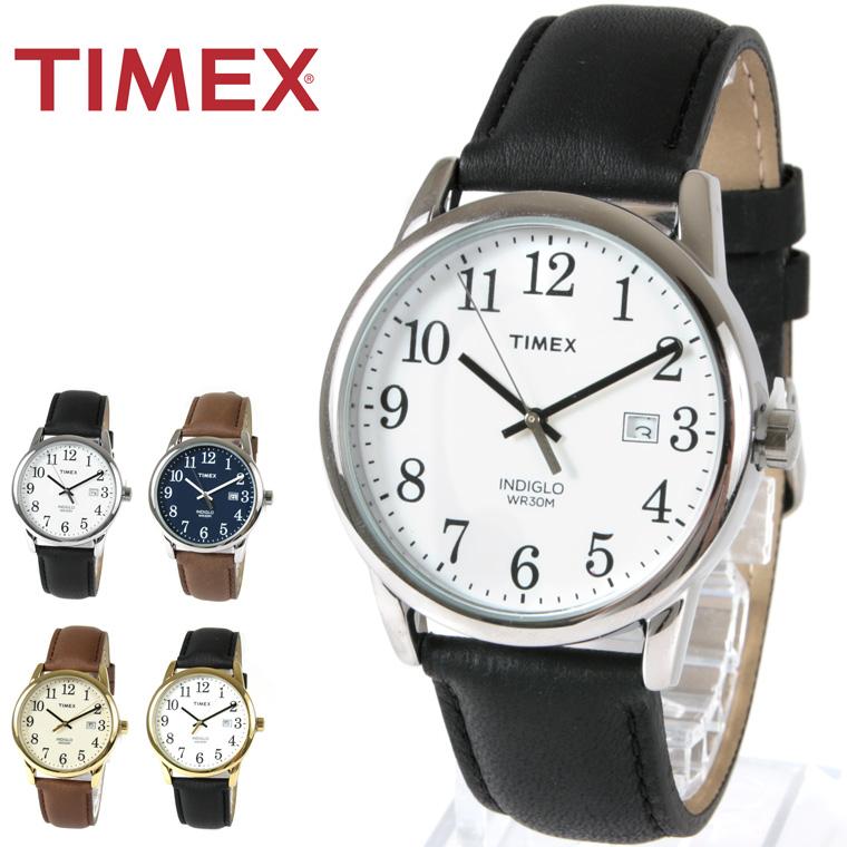 EASY READER イージーリーダー クオーツ 腕時計 TIMEX レザーベルト シンプルTIMEX タイメックス