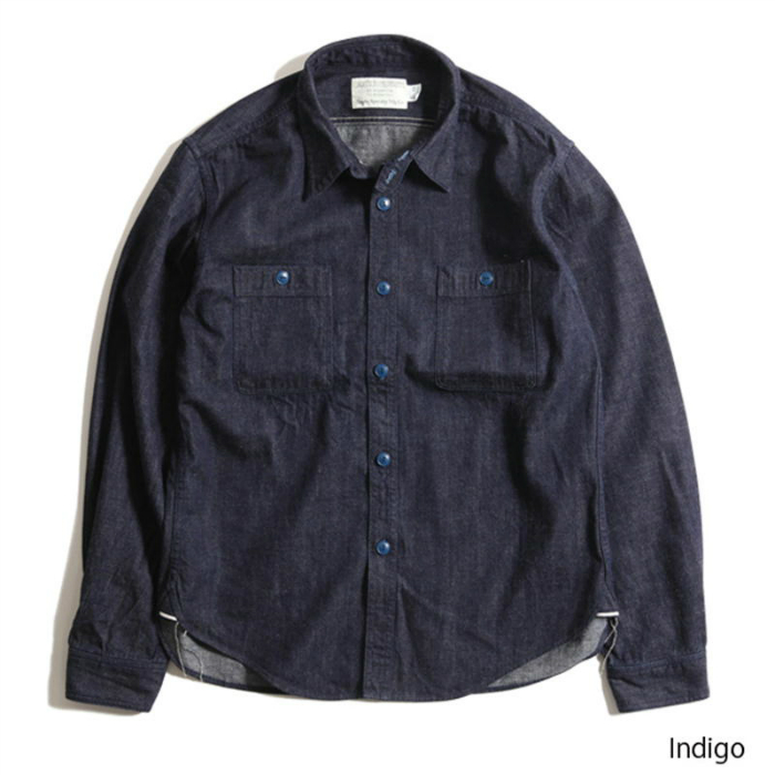 TROPHY CLOTHING トロフィークロージング Utility Denim L/S Shirts デニムシャツ