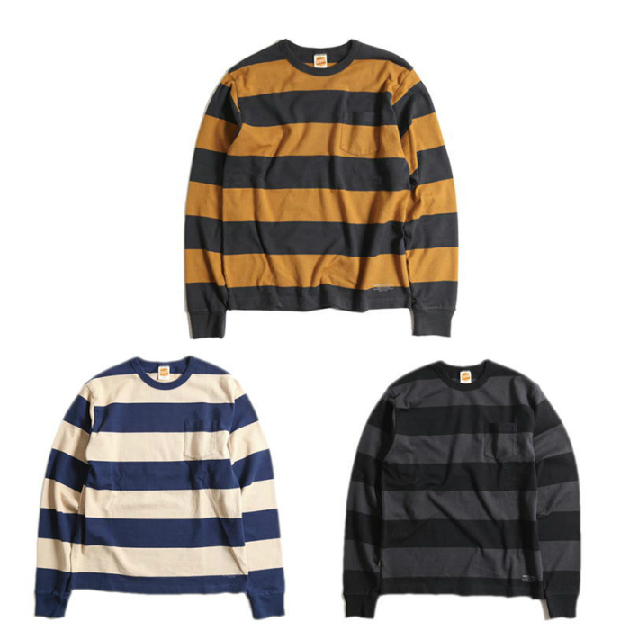 【TROPHY CLOTHING】トロフィークロージング Wide Border L/S Tee