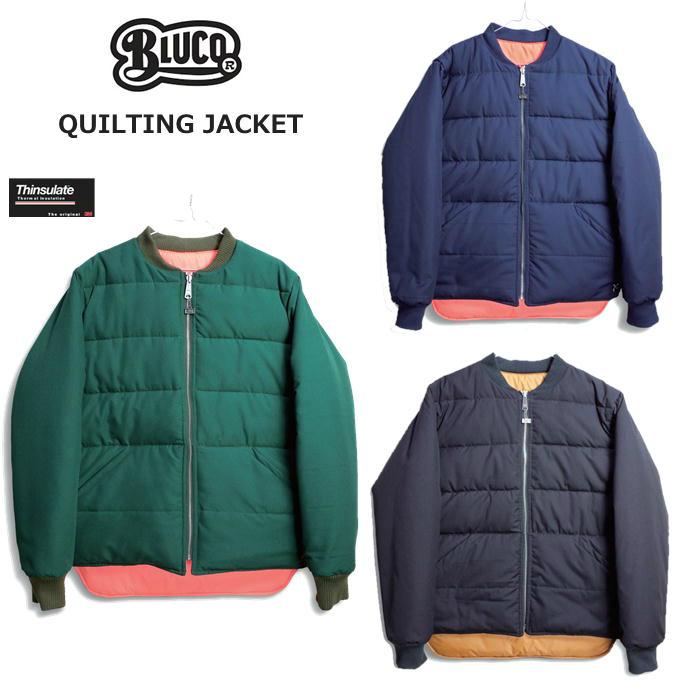 【BLUCO】ブルコ OL-070-018 RIB QUILT JACKET リブキルトジャケット