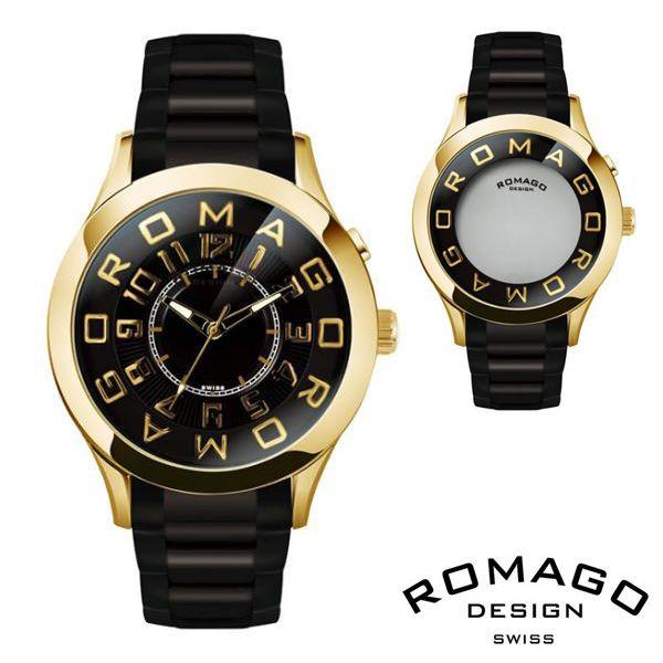 腕時計 メンズ レディース ブランド 1年保証 ★ EXILE MATSU 着用 ★正規 ROMAGO ロマゴ ATTRACTION ミラー文字盤 ビッグフェイス 腕時計 BOX 保証書付