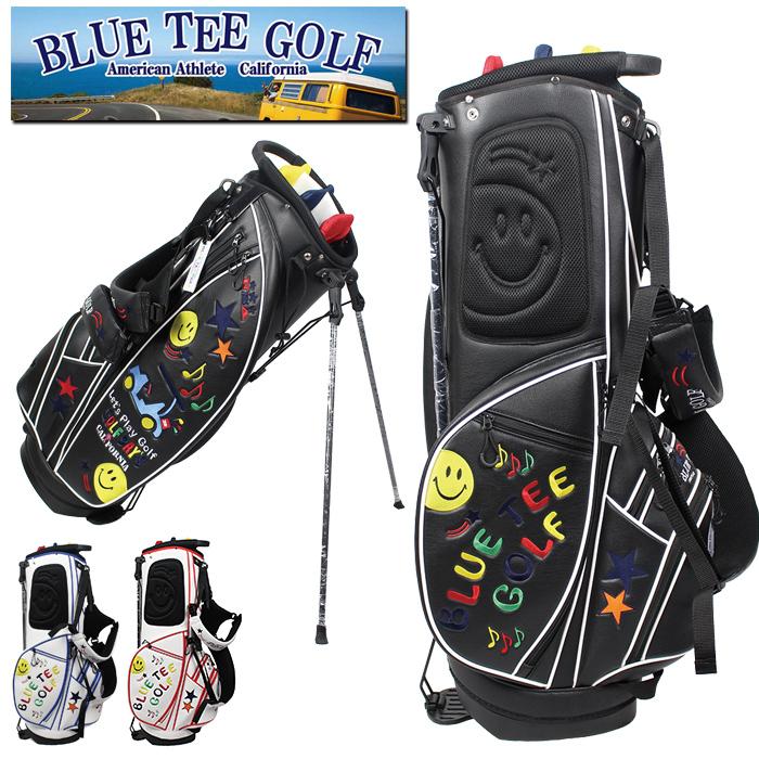BLUE TEE GOLF ブルーティーゴルフ スマイル & スター カート スタンド 9インチ キャディバッグ 0130