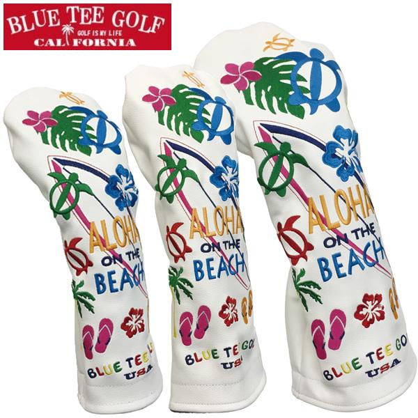 送料無料 ヘッドカバー ゴルフ 売り出し 店内全品ポイント10倍 クーポン割引 9 27 月 7:59迄 BLUE ザ 高級 TEE ビーチ オン プレゼント 新生活 ブルーティーゴルフ アロハ GOLF