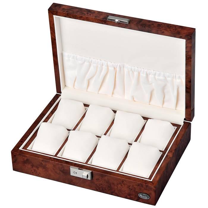 送料無料 高級 木製 8本収納 腕時計 収納ケース 鍵付き