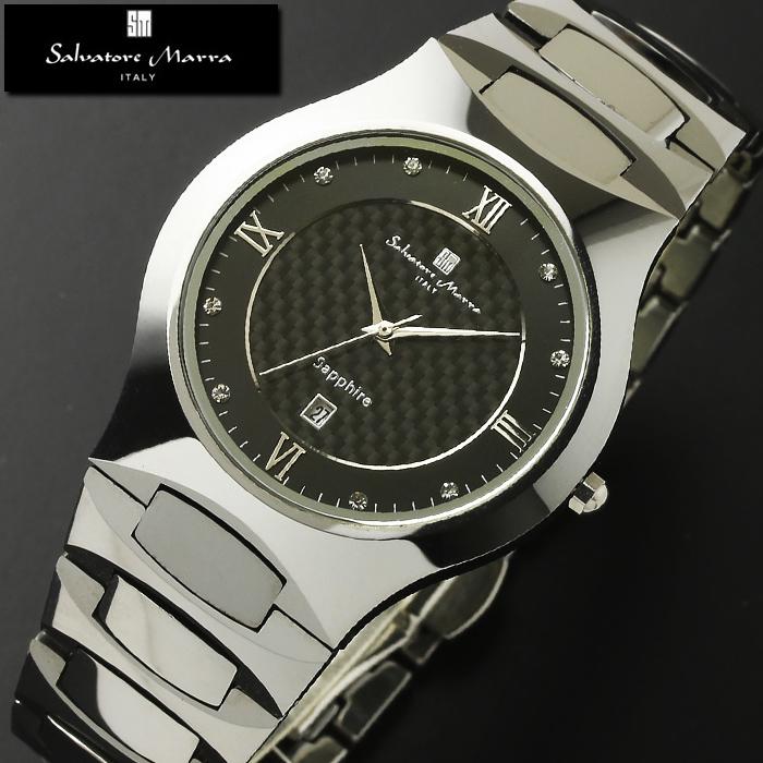 腕時計 メンズ レディース 1年保証 正規 Salvatore Marra サルバトーレ マーラ タングステン 腕時計 BOX 保証書付き