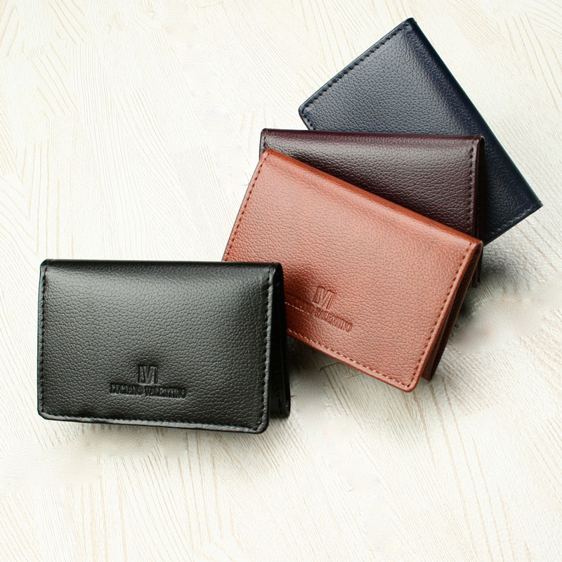 leather business card holder mens womens luciano valentino salamander bunted leather smooth genuine leather name put the card into all five colors lt gs - Leather Business Card Holder