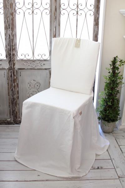 Blanc Mariclo ブランマリクロ Basicコレクション チェアカバー (リボンタイプ・ホワイト) チェアパッド ダイニングチェア アンティーク シャビーシック アンティーク風 アンティーク 雑貨 フレンチカントリー イタリア フランス 姫系 送料無料