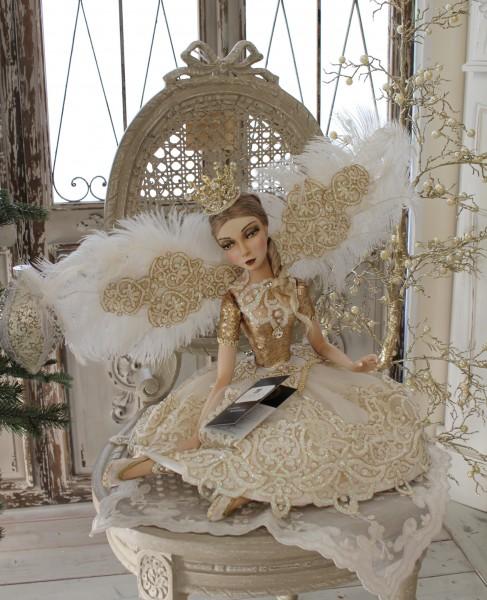 ★SALE・30★ クリスマスオーナメント♪ (クラウンフェアリー・座り) 妖精 ドール 人形 置物 シャビーシック フレンチ ロマンティック 可愛い クリスマス飾り クリスマスオブジェ