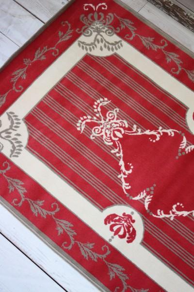 フランス ラグマット SERGE LESAGE (セルジュ ルサージュ)社 SOLENE(ROUGE)140×200 フランス製 カーペット 絨毯 スタイルフランス 綿100%
