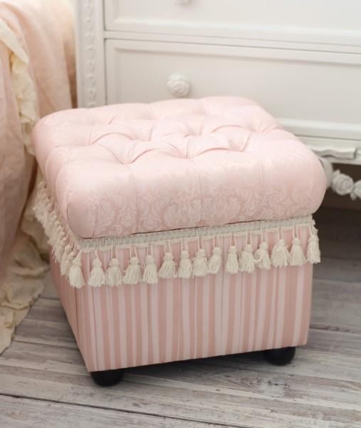 stylerococo Rakuten Global Market Baby Pink damask and stripes