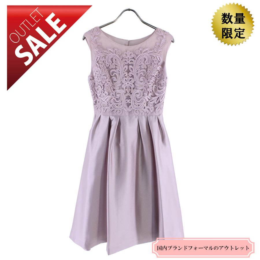 【61%OFF!】ひざ丈ドレス 結婚式 二次会 |エレガントレースドレス9号(ピンク)