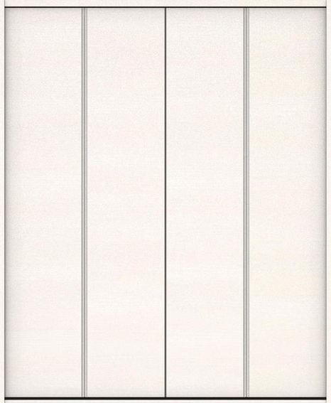 ハピアベイシス クローク収納 折戸ユニット フラット横木目タイプ ハンドルなし 固定枠尺モジュール 四方枠 2300高 1190幅(4.5尺間口) ネオホワイト 大建工業の建具
