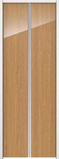 ハピアプレミア クローク収納 収納開き戸 扉 0Pデザイン 銘木ウッド調 ハンドルレス 734幅 2000高 チェリー柄(ティーブラウン) 大建工業の建具