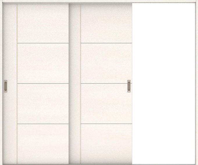 ハピアベイシス 引戸・2枚片引 D1デザイン扉セット  2432幅 ネオホワイト 大建工業の建具