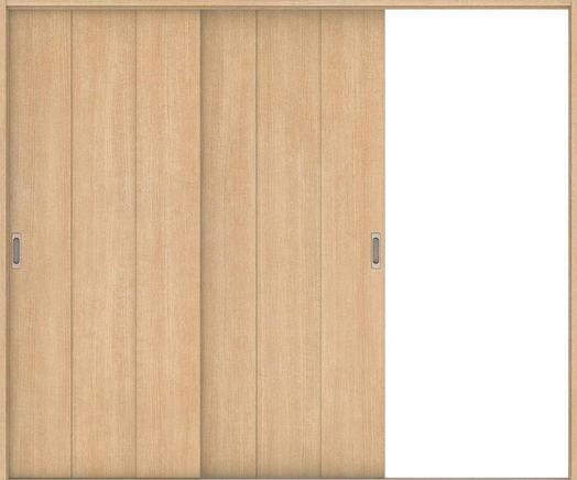 ハピアベイシス 引戸・2枚片引 G1デザイン扉セット  2432幅 ミルベージュ 大建工業の建具