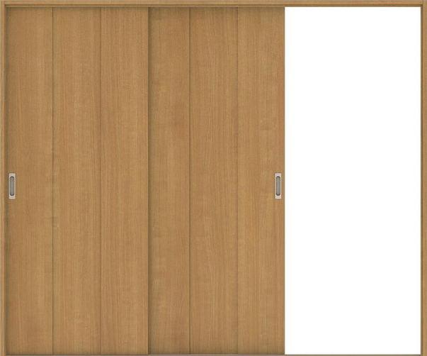 ハピアベイシス 引戸・2枚片引 G1デザイン扉セット  2432幅 ティーブラウン 大建工業の建具