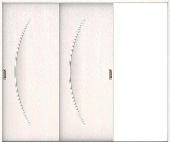ハピアベイシス 引戸・2枚片引 S7デザイン扉セット  2432幅 ネオホワイト 大建工業の建具