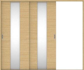 店舗受け取り限定 ハピアベイシス 引戸・2枚片引 Y5デザイン扉セット  2432幅 ライトオーカー 大建工業の建具