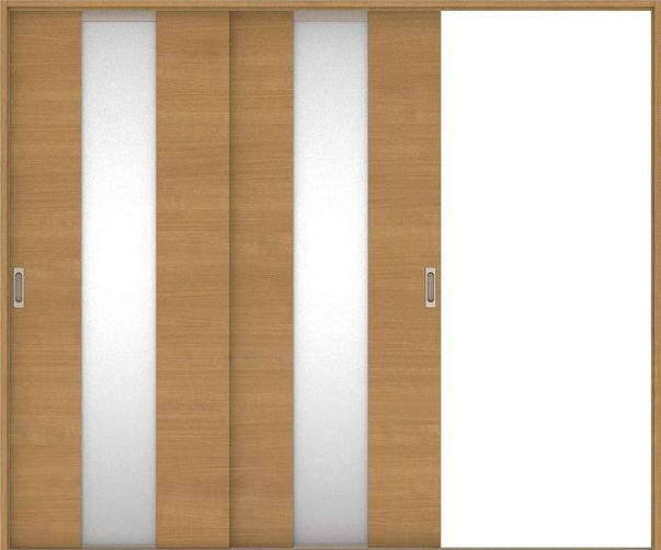 店舗受け取り限定 ハピアベイシス 引戸・2枚片引 Y5デザイン扉セット  2432幅 ティーブラウン 大建工業の建具