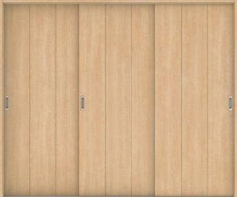 ハピアベイシス 引戸・3枚引違 G1デザイン扉セット  2432幅 ミルベージュ 大建工業の建具