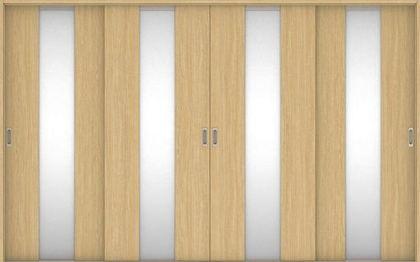 店舗受け取り限定 ハピアベイシス 引戸・4枚引違 G5デザイン扉セット  3255幅 ライトオーカー 大建工業の建具