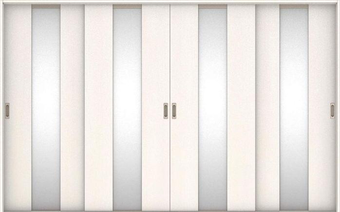 店舗受け取り限定 ハピアベイシス 引戸・4枚引違 G5デザイン扉セット  3255幅 ネオホワイト 大建工業の建具