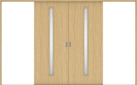 ハピアベイシス 引戸・引分 C4デザイン扉セット  3255幅 ライトオーカー 大建工業の建具
