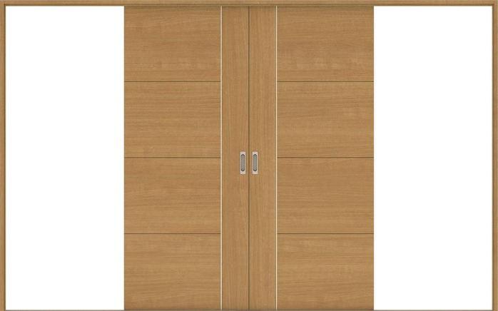 ハピアベイシス 引戸・引分 D1デザイン扉セット  3255幅 ティーブラウン 大建工業の建具