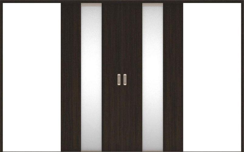 店舗受け取り限定 ハピアベイシス 引戸・引分 G5デザイン扉セット  3255幅 オフブラック 大建工業の建具