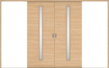 ハピアベイシス 引戸・引分 U8デザイン扉セット  3255幅 ミルベージュ 大建工業の建具