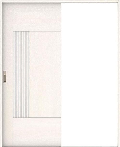 ハピア 引戸・片引 76デザイン扉セット  錠付・明かり窓なし ネオホワイト 大建工業の建具
