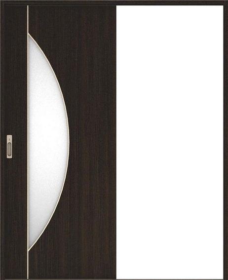ハピア 引戸・片引 D5デザイン扉セット  錠付・明かり窓なし オフブラック 大建工業の建具