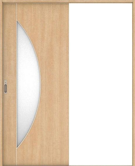 ハピア 引戸・片引 D5デザイン扉セット  錠付・明かり窓なし ミルベージュ 大建工業の建具