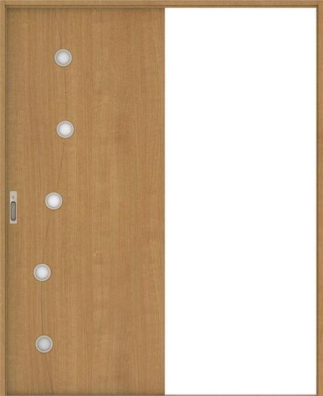 ハピア 引戸・片引 S5デザイン扉セット  錠付・明かり窓なし ティーブラウン 大建工業の建具